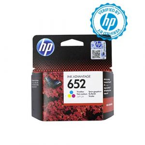 HP 652 Tri-colour Printer Ink Cartridge Original